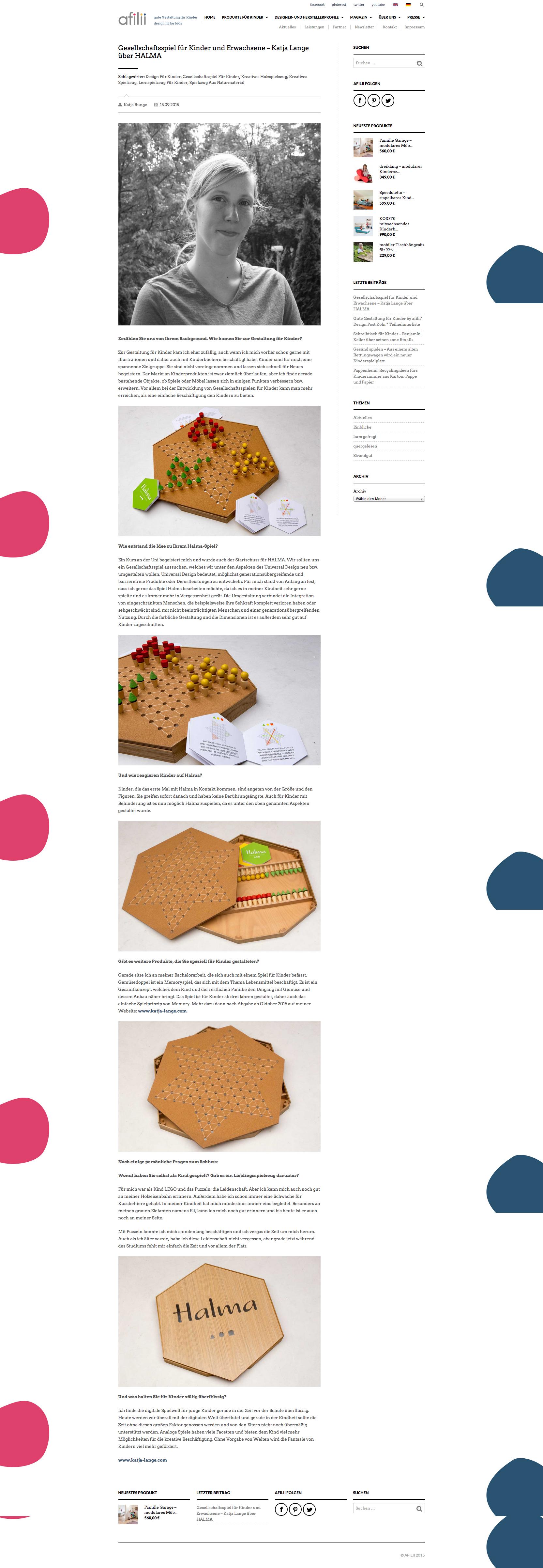 Gesellschaftsspiel für Kinder und Erwachsene – Katja Lange über HALMA  afilii – gute Gestaltung für Kinder